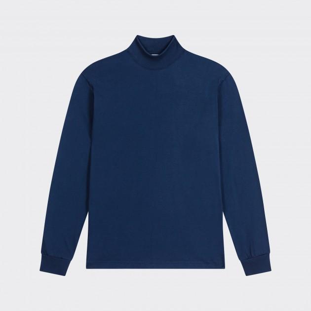 T-Shirt Fin Col Cheminée : Crème
