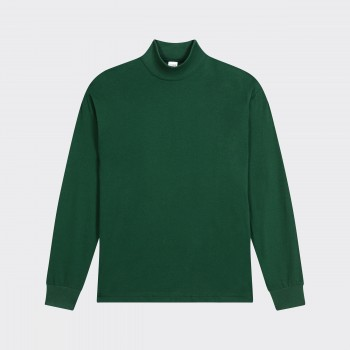 Mock Neck Light T-shirt : Dartmouth Green
