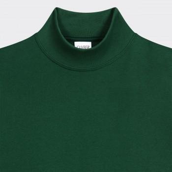 T-Shirt Fin Col Cheminée : Vert Dartmouth