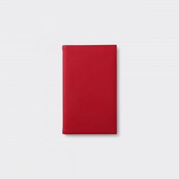 Petit Carnet en Cuir : Rouge