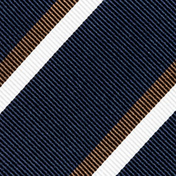 Cravate Club Soie : Marine/Marron/Blanc