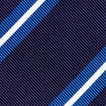 Cravate Club Soie : Marine/Bleu/Blanc