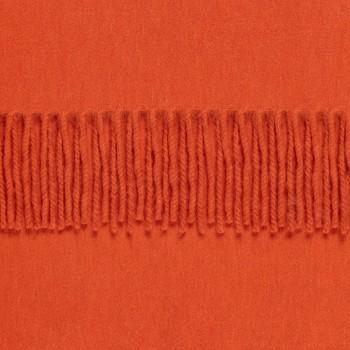 Écharpe Lambswool Et Angora : Orange