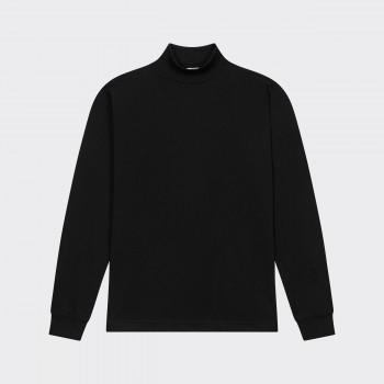 Mock Neck Light T-shirt: Black