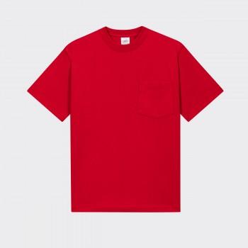 T-shirt Poche: Rouge