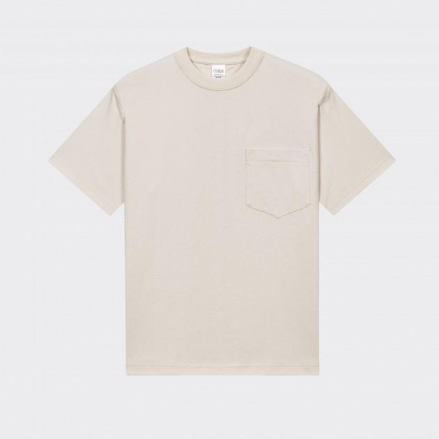 T-shirt Poche: Ecru