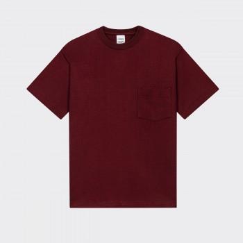 Pocket T-shirt: Crimson Red