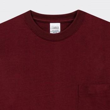 T-shirt Poche: Rouge Harvard