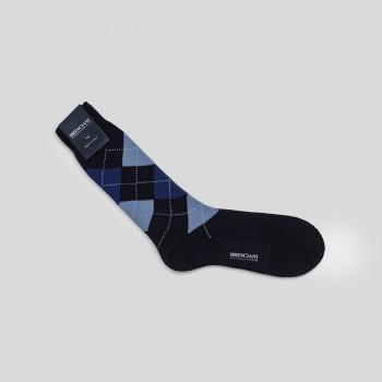 Cotton Argyle Short Socks : Navy/Blue