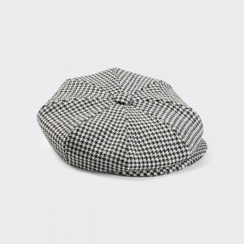 Dogtooth « 8-Panels » Cap : Black/White