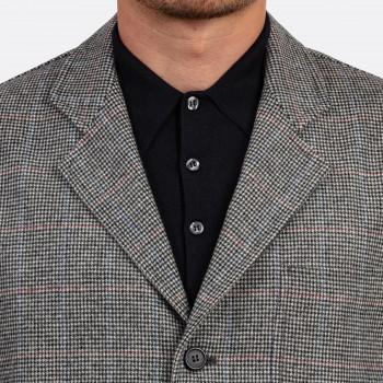 Sofà Jacket Pied-de-Poule Flanelle : Blanc/Noir/Rouge/Bleu