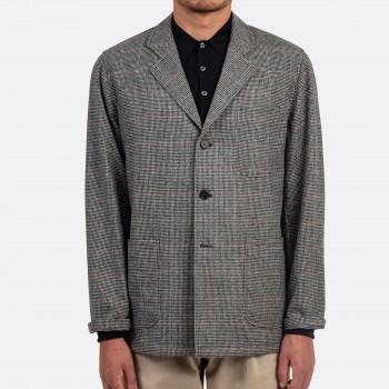 Sofá Jacket Pied-de-Poule Flanelle : Blanc/Noir/Rouge/Bleu