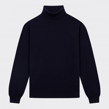 Cashmere Turtleneck Sweater : Navy