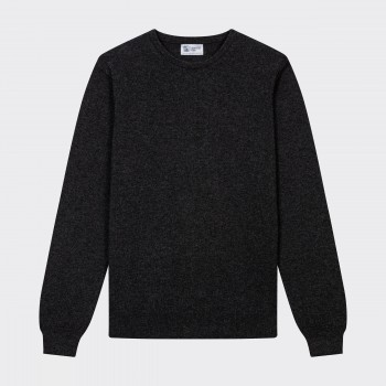 Pull Col Rond Cachemire : Gris