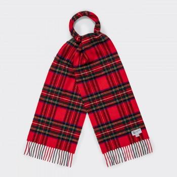 Wool Tartan Scarf : Red Stewart