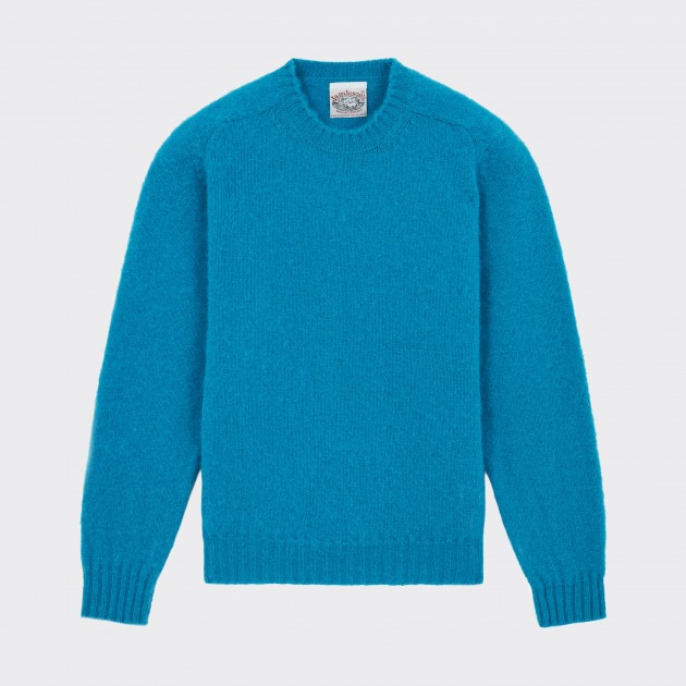 Brushed Wool Crewneck Knit : French Blue