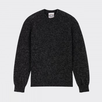 Brushed Wool Crewneck Knit : Grey