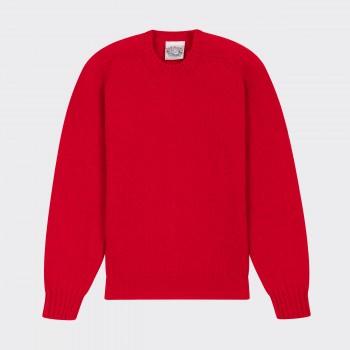 Brushed Wool CrewneckKnit: Red