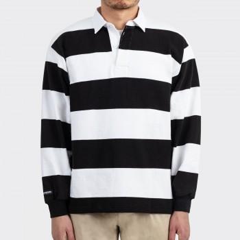 Polo Rugby : Noir/Blanc