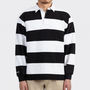 Striped Rugby Shirt : Black/White