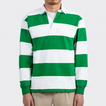 Polo Rugby : Irish Green/White