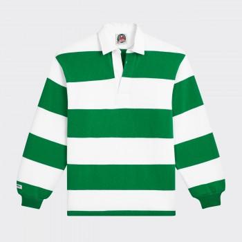Polo Rugby : Vert Irlandais/Blanc