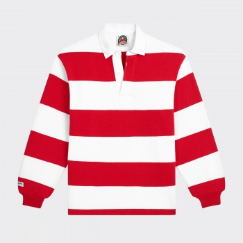 Polo Rugby : Rouge/Blanc