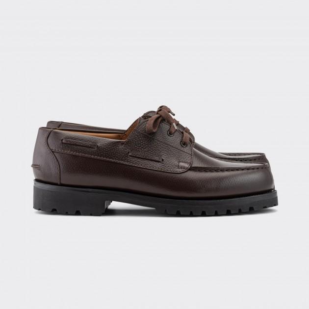"""4x4"" Derby Grain Leather : Mélèze Brown"