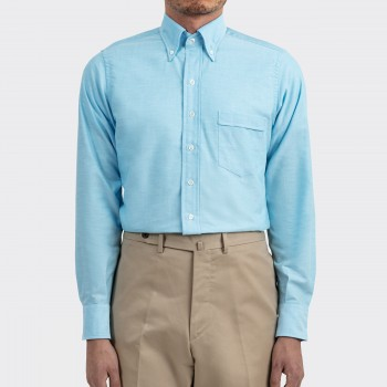 Chemise Col Boutonné Oxford : Turquoise