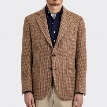 Veste en Tweed : Beige/Marron