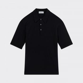 Polo Manches Courtes Coton : Noir