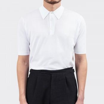 Polo Manches Courtes Coton : Blanc