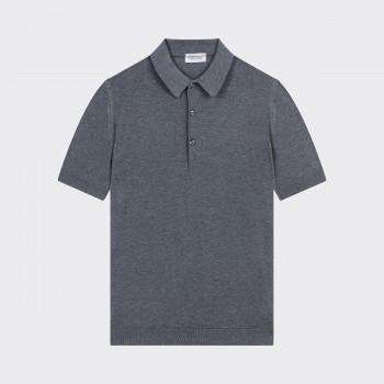 Polo Coton Texturé : Gris