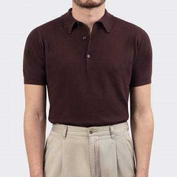 Textured Cotton Polo Shirt : Pastel Green