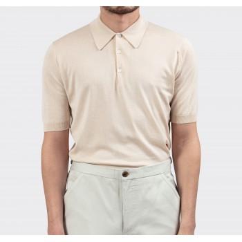 Polo Manches Courtes Coton : Crème