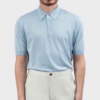 Short Sleeves Cotton Polo Shirt: Black