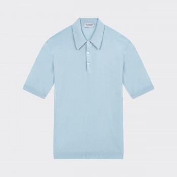 Polo Manches Courtes Coton : Bleu Poudré