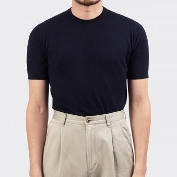 T-shirt Cotton Polo Shirt : Dark Navy