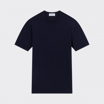 T-shirt Cotton Polo Shirt : Dark Navy