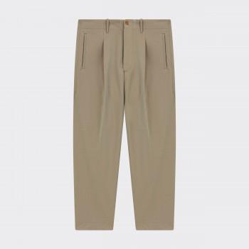 Pantalon en Gabardine Irisée: Olive