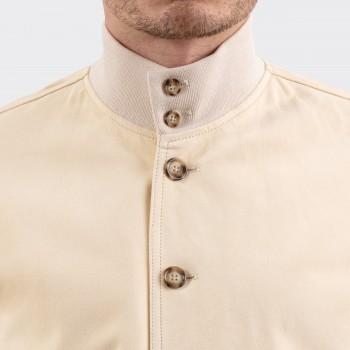 Suede A-1 Jacket : Cream