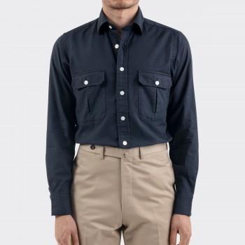 Chemise de Travail 2 poches : Marine