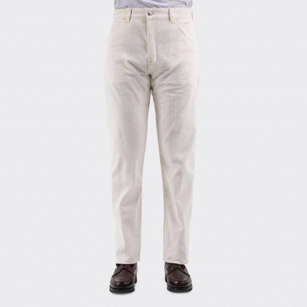 Selvedge Denim Five-Pocket Jeans : Ecru