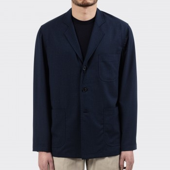 """Nikke"" Summer Wool Sofá Jacket : Navy/Blue/Green"