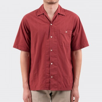 Chemise Col Requin : Rouge