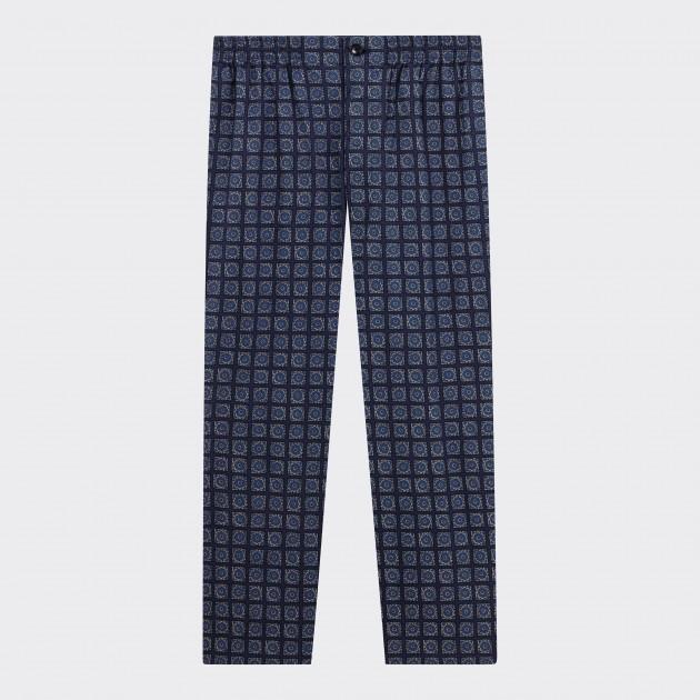 Pantalon Pyjama Voile de Coton : Marine