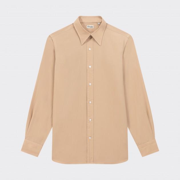Long Point Collar Shirt : Beige