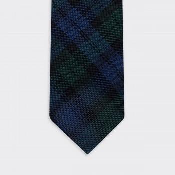 Cravate Grenadine de Soie : Tartan Blackwatch
