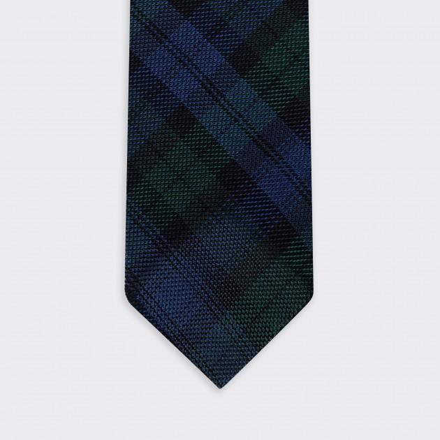 Grenadine Tie: Blackwatch Tartan