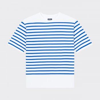 """T-shirt """"Pontus"""" : Blanc/Bleu"""